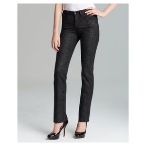 Not Your Daughter's Jeans Black Snakeskin Straight